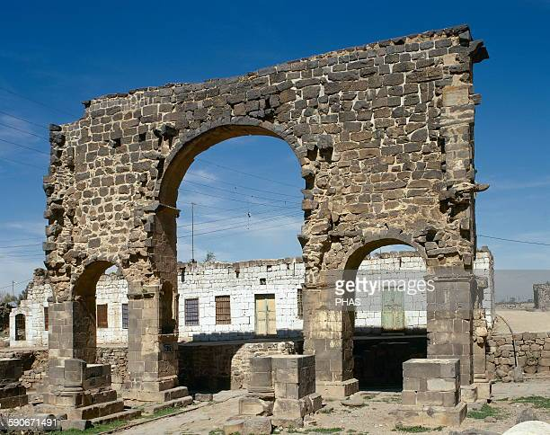 Syria Bosra Roman Triumphal arch 3rd century AD Near East Photo before Syrian civil war