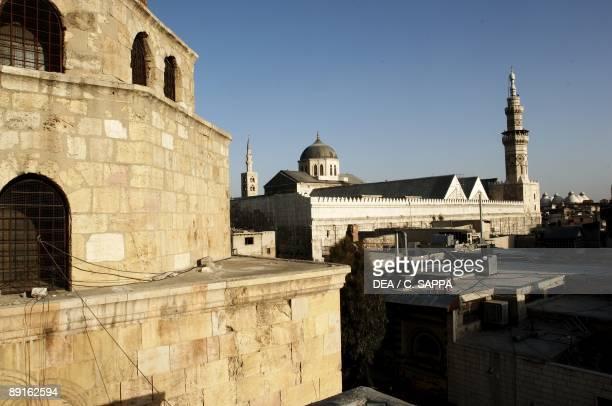 Syria Damascus Ancient city UNESCO World Heritage List 1979 Umayyad Great Mosque AD 705715