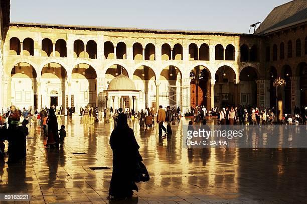 Syria Damascus Ancient city UNESCO World Heritage List 1979 Umayyad Great Mosque AD 705715 Arcaded courtyard