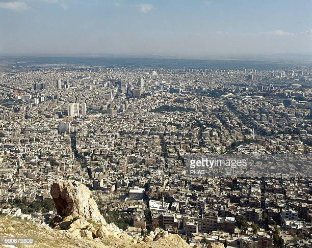Syria Damascus Overview of the city Near East Photo before Syrian Civil War