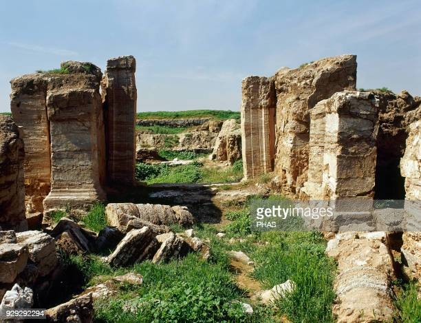 Syria DuraEuropos Hellenistic Parthian and Roman city Today Salhiye Temple of Atargatis Photo taken before civil war