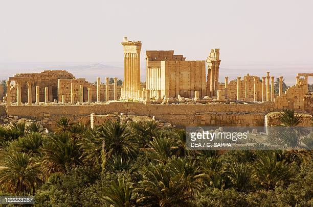 Syria, Palmyra, Temple of Bel ancient ruins.