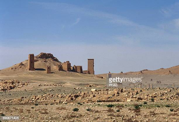 Syria, Palmyra. The Valley of the Tombs. Oasis of Tadmor. Photo before the Syrian civil war.