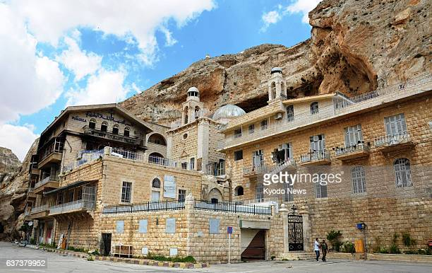MAALOULA Syria Photo taken May 14 shows St Thecla Monastery in the Christian village of Maaloula southern Syria the inside of which was heavily...