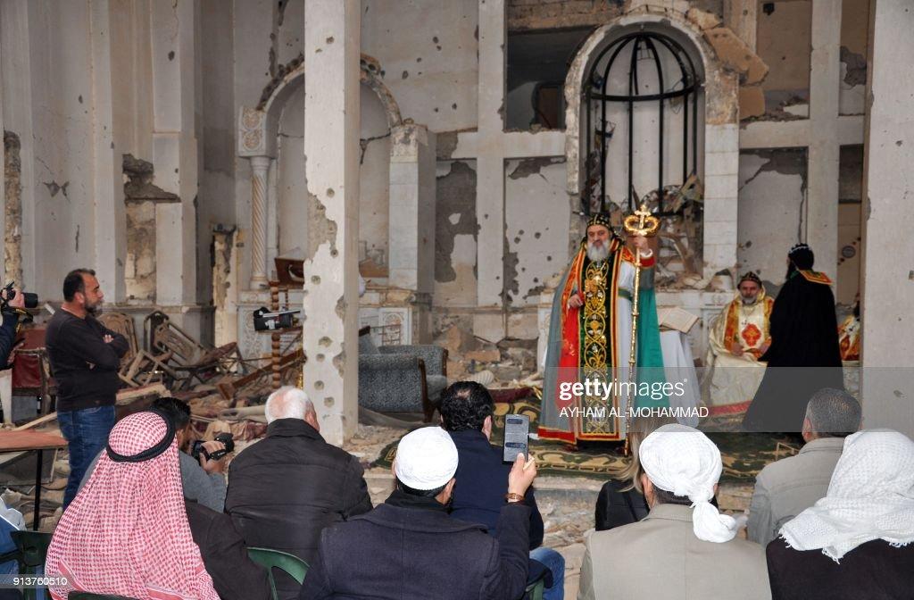 SYRIA-CONFLICT-CHRISTIANS-ORTHODOX : News Photo