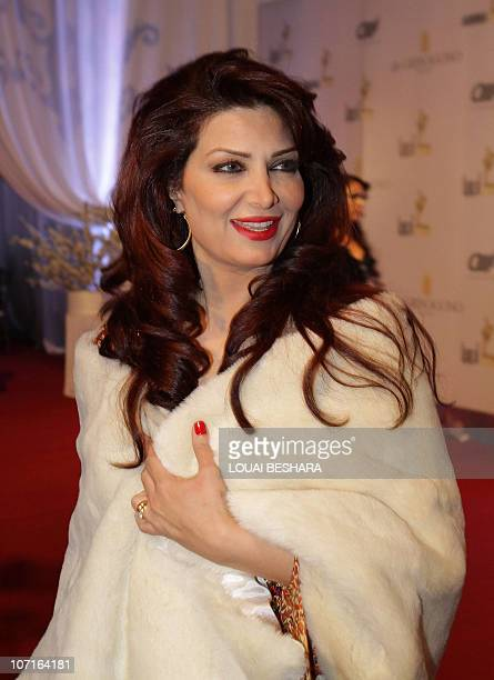 Syrian actress Marah Jaber arrives to attend the Adonia Awards party in Damascus late on November 26 2010 AFP PHOTO/LOUAI BESHARA
