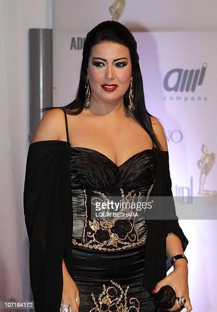 Syrian actress Sumaya Khashab arrives to attend the Adonia Awards party in Damascus late on November 26 2010 AFP PHOTO/LOUAI BESHARA