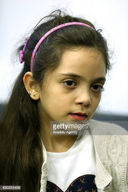 Syrian Bana Alabed a sevenyearold girl who tweeted about the attacks in Aleppo speaks to media with her family after she met with Turkish President...