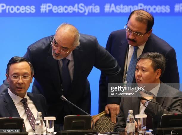Syrian chief negotiator and Ambassador of the Permanent Representative Mission of Syria to the United Nations Bashar alJaafari and Syrian ambassador...