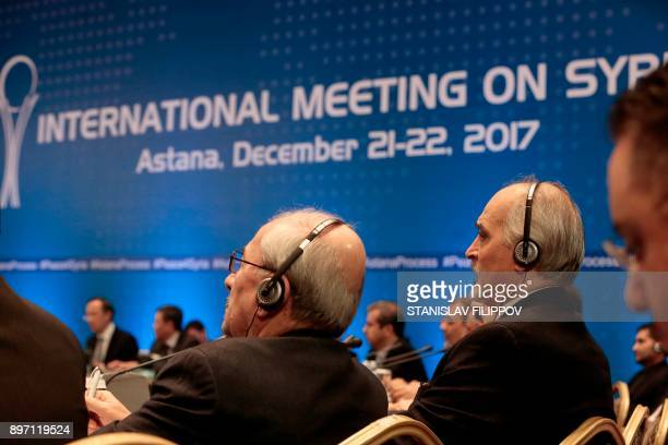 Syrian chief negotiator and Ambassador of the Permanent Representative Mission of Syria to the United Nations Bashar alJaafari and other attendees...