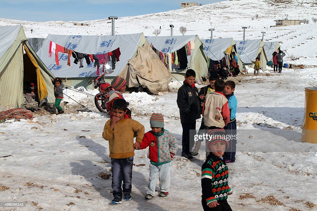 LEBANON-SYRIA-CONFLICT-REFUGEES-WEATHER : News Photo