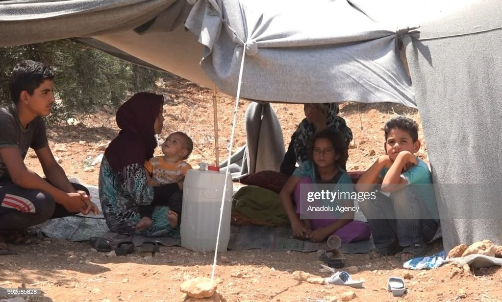 Number of Syrians fleeing Daraa due to ongoing military operations : News Photo