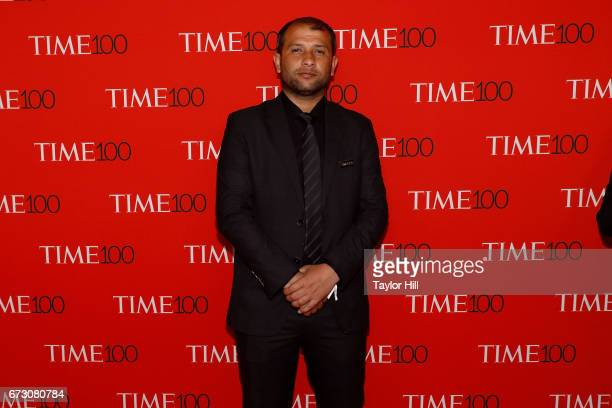 Syrian Civil Defense/White Helmets leader Raed Saleh attends the 2017 Time 100 Gala at Jazz at Lincoln Center on April 25 2017 in New York City