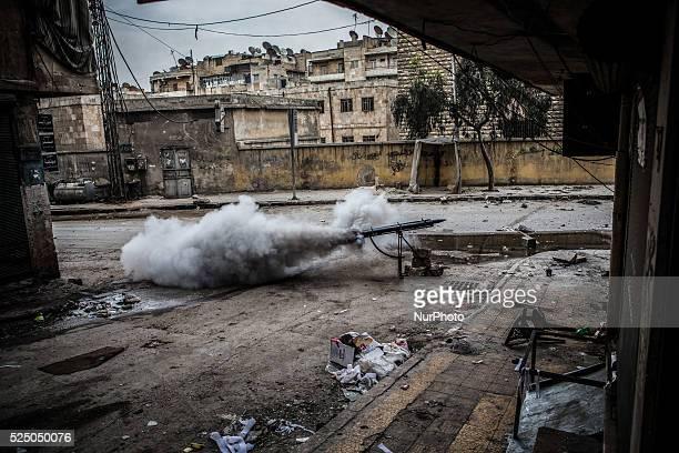 Syrian Civil War in Aleppo Syria
