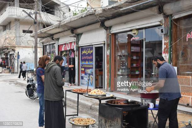 Syrian civilians continue their lives safely ahead of the holy month of Ramadan following Operation Peace Spring as life turned to normal in Tal...