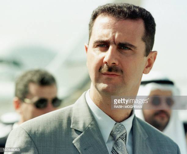 Syrian Colonel Bashar alAssad attends the opening of the Dubai air show 14 November 1999 Assad is being groomed to take over from his 69yearold...