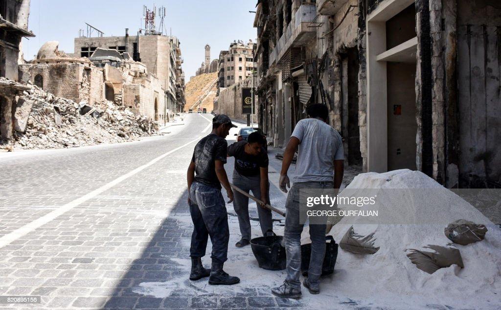 SYRIA-CONLFICT-ALEPPO : News Photo
