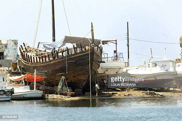 Syrian First Lady Asma alAssad paid a visit to this replica of a wooden Phoenician ship being built in the harbour on the Syrian island of Arwad some...