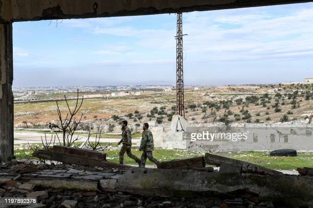 Syrian government forces are seen in the village of Khan Tuman, about 17 kilometres southwest of the northern city of Aleppo, on February 1, 2020.
