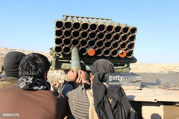 Syrian group 13th Division part of the Syrian opposition attack regime controlled Nubul and Zahra regions of Aleppo with heavy artillery on February...