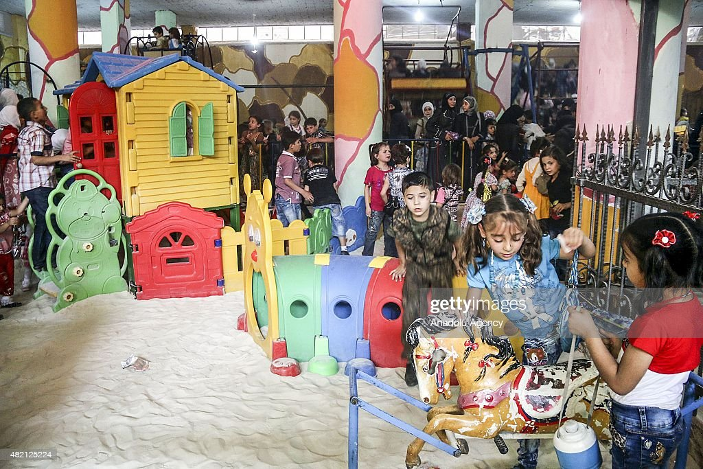 Subterranean Playground for Syrian Kids : News Photo