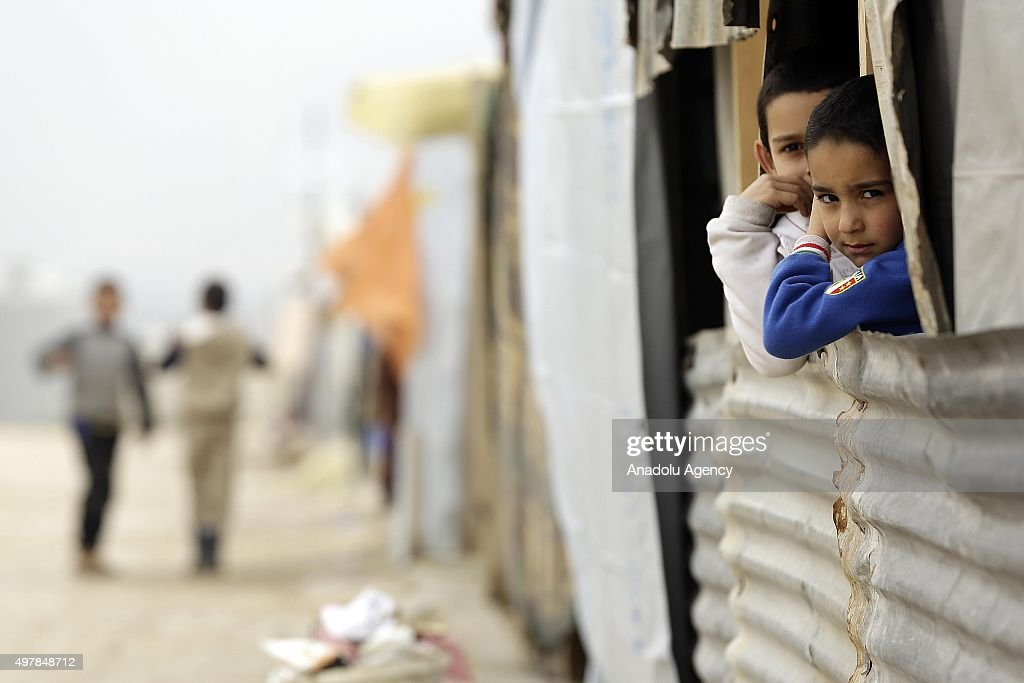Refugee Camp in Beirut's Beqaa Valley : News Photo