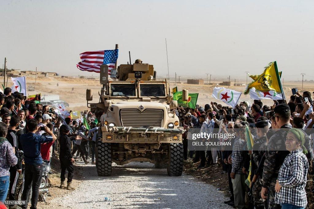TOPSHOT-SYRIA-KURDS-TURKEY-CONLIFCT : Nachrichtenfoto