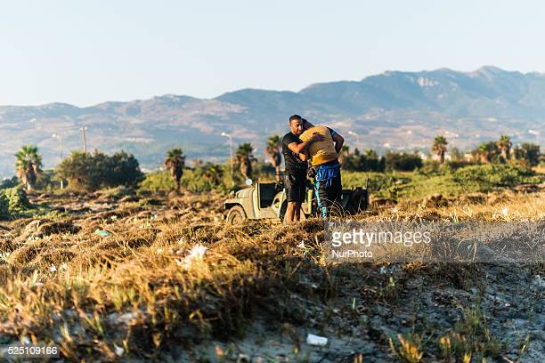 Syrian man crying in the arms of his friend after finally reaching the Greek side August 28 in Kos Island Greece The EU is grappling with an...