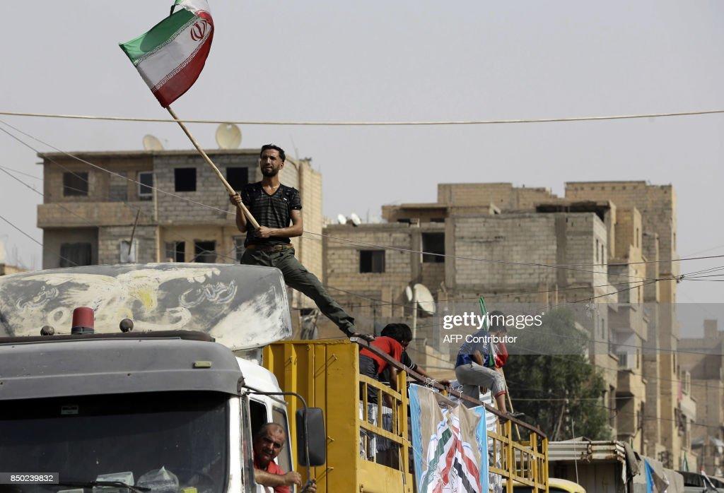 SYRIA-CONFLICT-DEIR EZZOR-IRAN-AID : Nachrichtenfoto
