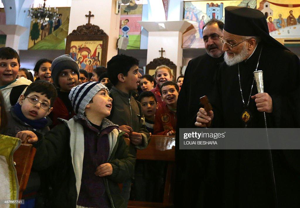 SYRIA-CONFLICT-RELIGION-CHRISTIAN : News Photo