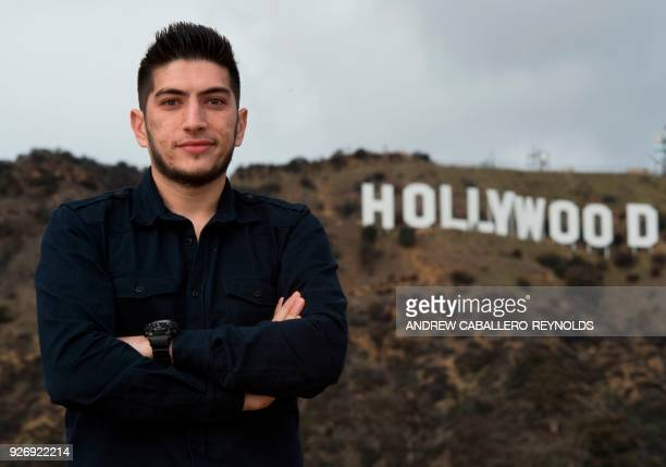 TOPSHOT Syrian national Thaer Mohammed the cinematographer for the Oscar nominated documentary 'Last Men in Aleppo' poses for a photo in Hollywood...