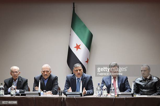 Syrian opposition body members Syrian Chairman of the National Coordination Committee for the Forces of Democratic Change Hassan Abdel Azim member of...