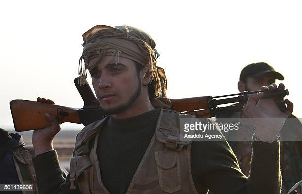 Syrian opposition forces liberate Karakopru village from DAESH in Aleppo Syria on December 15 2015