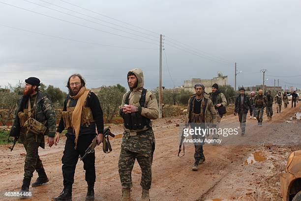 Syrian opposition group linked to AlShamia Front make preparations to launch an attack against Syrian regime forces in Hardtaneen village of Aleppo...