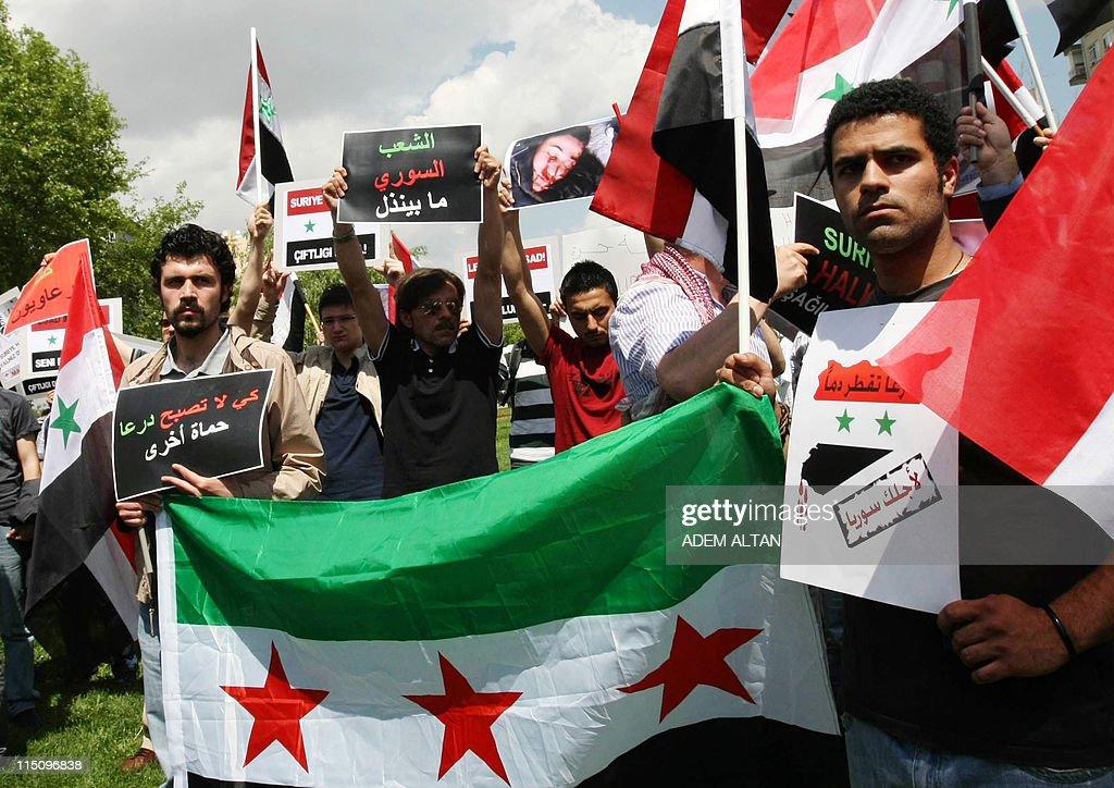 Syrian opposition members and Turkish ac : Nachrichtenfoto