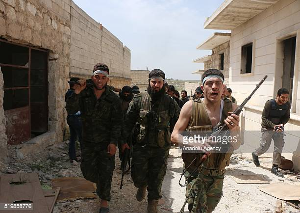 Syrian oppositions attack regime forces at Handarat region of Aleppo Syria on April 8 2016