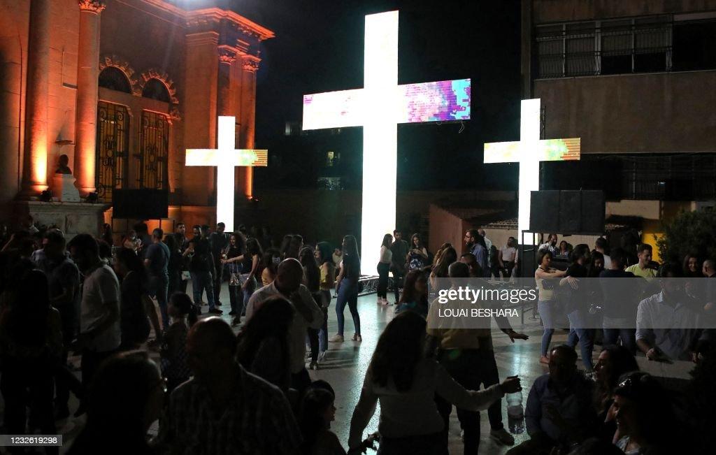 SYRIA-RELIGION-CHRISTIANITY-GOOD FRIDAY : Nieuwsfoto's