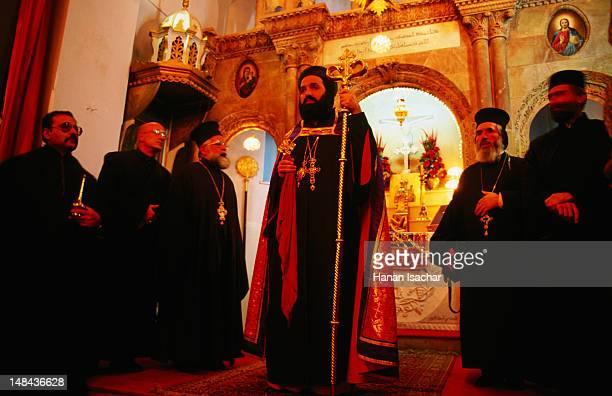 Syrian Orthodox Christmas ceremony at St Mary's Church.