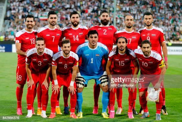 Syrian players Mohamed Madanieh Omar Khrbin Tamer Mohamed Ahmad alSaleh Hadi alMasri Omar alSoma Mouaiad alAjjan Mahmoud alMawas Ibrahim Alma Alaa...