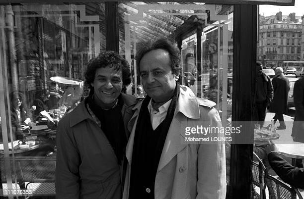 Syrian poet Adonis at 'Cafe de Flore' in Paris France on October 08th 1986
