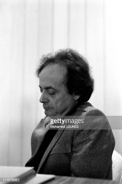 Syrian poet Adonis in Paris France on October 08th 1986 Syrian poet Adonis with 14 writers published a book called 'Pour Nelson Mandela' a...