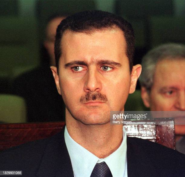 Syrian President Bashar al-Assad attends the Arab League Emergency Summit, Cairo, October 22, 2000. The summit was called to discuss recent...