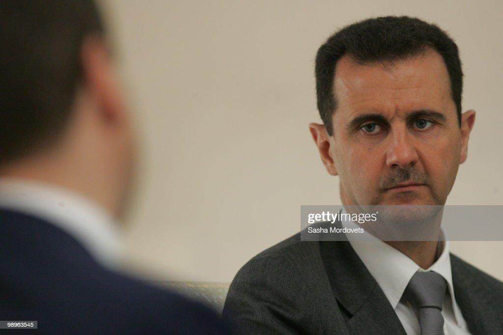 Russian President Medvedev Visits Syria : ニュース写真