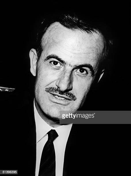 Syrian President Hafez al-Assad pictured 12 December 1970 in Damascus. Hafez al-Assad died 10 June 2000 of a heart attack in Damascus just before...