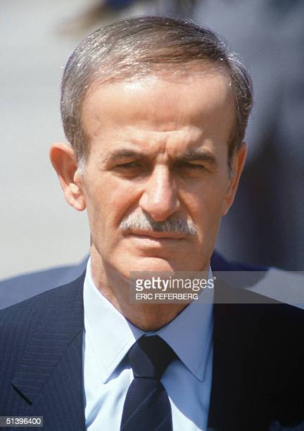 Syrian President Hafez alAssad pictured 27 May 1986 upon his landing in Athens Hafez alAssad died 10 June 2000 of a heart attack in Damascus just...