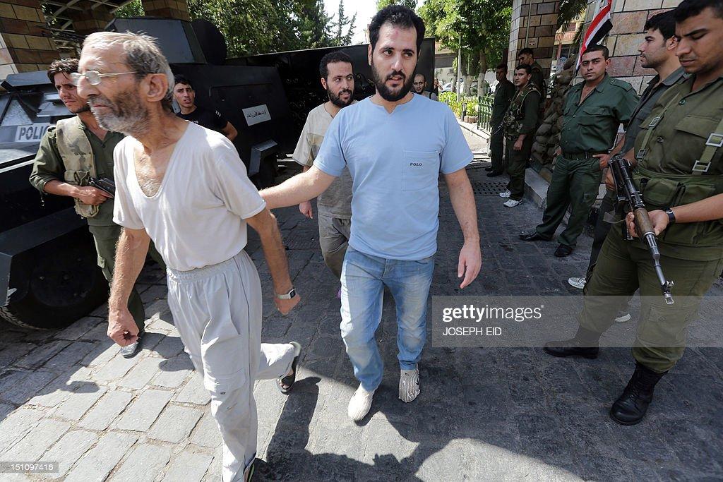 SYRIA-CONFLICT-PRISON-RELEASE : Photo d'actualité