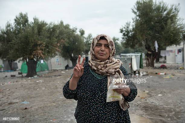 Syrian refugee at Kara Tepe camp on Lesbos, Greece