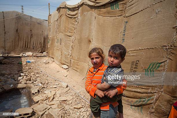 syrian refugee children - syrian culture stock photos and pictures