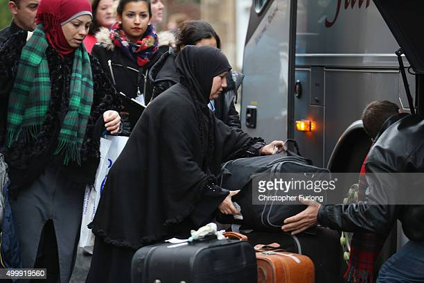 Syrian refugee families arrive at their new homes on the Isle of Bute on December 4 2015 in Rothesay Isle of Bute Scotland The Isle of Bute is...