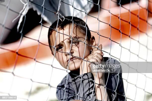 Syrian refugee in refugee camp in Turkey